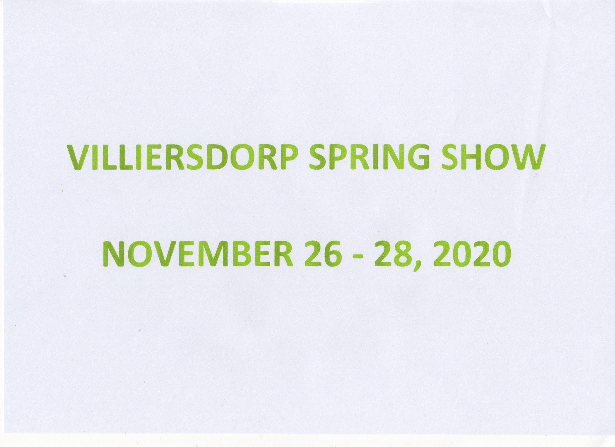 Villiersdorp Spring 2020